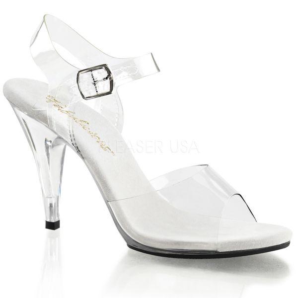Durchsichtige klassische Sandalette mit Riemchen CARESS-408